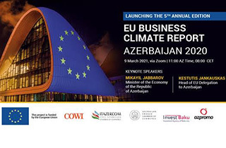 Invitation to the 5th edition of the «EU Business Climate Report Azerbaijan 2020» Launching Event